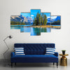 The Maligne Lake With A Spirit Island, Multi Panel Canvas Wall Art