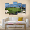 A view of hole 7 at Pebble Beach golf links Multi Panel Canvas Wall Art
