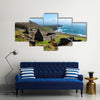 Ruins of historical ancient cottage in Dingle, County Kerry, Ireland Multi Panel Canvas Wall Art