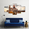 The Corvinesti castle in Hunedoara (Transylvania), Romania Multi Panel Canvas Wall Art