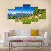 Panoramic view of beautiful mountain landscape Multi panel canvas wall art