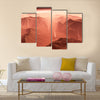 Dust storm on Mars Multi Panel Canvas Wall Art