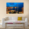Aerial View on Saint Julien and Spinola Bay at Dawn Malta, Multi Panel Canvas Wall Art