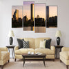 Skyline of buildings at Las Condes district Multi panel canvas wall art