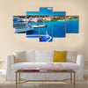 Cruise Ships in Nassau Bahamas port Multi panel canvas wall art