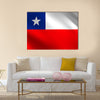 Chilean flag waving in the wind Multi panel canvas wall art
