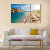 Beach near the island Sveti Stefan Montenegro Multi panel canvas wall art