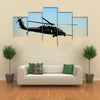 US Army Helicopter In Sunrise In Early Morning Multi Panel Canvas Wall Art