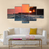 Sunset in March at Playa El Tunco, El Salvador Multi Panel Canvas Wall art