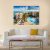 View Of A San Andes, A Coral Island In Columbia Multi Panel Canvas Wall Art