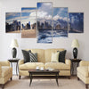 Melting of glaciers due to global warming Multi Panel Canvas Wall Art