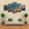 Aerial view on Ho Chi Minh city from the tower, Saigon, Vietnam Multi panel canvas wall art