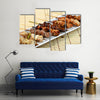 Barbecued chicken / Yakitori / Japanese food Multi panel canvas wall art