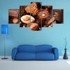 Chocolates background Praline chocolate sweets Multi panel canvas wall art
