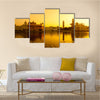 Sunset At Golden Temple In Amritsar in India, Multi Panel Wall Art