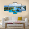 Beautiful view of Palau islands from above multi panel canvas wall art