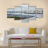 African town on the riverside Lagos, Nigeria, Africa Multi panel canvas wall art