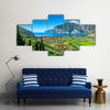 The Lake Garda And Sarca River In Northern Itlay Near A Town, Itlay, Multi Panel Canvas Wall Art