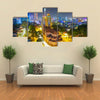 Notre Dame cathedral in Ho Chi Minh City Vietnam night view Multi panel canvas wall art