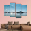 Shanghai skyline with reflection, China multi panel canvas wall art