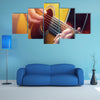 Man playing an acoustic guitar Multi panel Canvas Wall Art