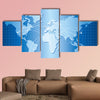 World map vector multi panel canvas wall art