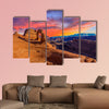 Beautiful Sunset Image taken at Arches National Park in Utah multi panel canvas wall art