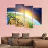 Sunrise over the Earth furnished by NASA multi panel canvas wall art