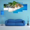 Gjipe beach with rocks and river in Albania Multi panel canvas wall art