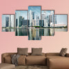 Modern city skyline multi panel canvas wall art
