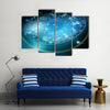 Vector Illustration Of Zodiac Stars Multi Panel Canvas Wall Art