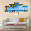 Caribbean beach on Saona island, Dominican Republic Multi Panel Canvas Wall Art