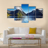 Fiord Milford Sound, South Island, New Zealand Multi panel canvas wall art