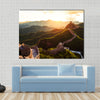 Great wall under sunshine during sunset Multi panel canvas wall art
