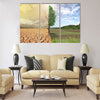 creative concept image compare of global warming Multi Panel Canvas Wall Art