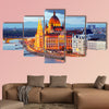 Budapest, Hungary parliament at night multi panel canvas wall art