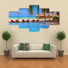 The Beauty Of A Pool And Cafe On The Maldives Beach, Multi Panel Canvas Wall Art