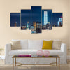 New York Statue of Liberty Freedom Tower and Empire State Building Multi panel canvas Wall art