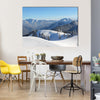 The Upper Bavaria Area Covered By The Snow, An Alpine Winter Landscape, Multi Panel Canvas Wall Art