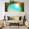 Enchanted dark forest at the spring Multi Panel Canvas Wall Art