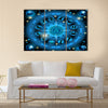 Circle Illustration Of Zodiac Signs Multi Panel Canvas Wall Art