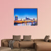 Nashville Tennessee downtown skyline at Shelby Multi panel canvas wall art