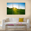 Golf course in the countryside Multi Panel Canvas Wall Art