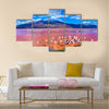 Flamingoes in Laguna Colorada , Uyuni, Bolivia Multi panel canvas wall art