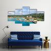 Cruise port in the tropical Caribbean island of Ocho Rios, Jamaica Multi panel canvas wall art