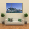 USS Midway Aircraft Carrier At A Bay Multi Panel Canvas Wall Art