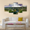 Wonderful canyon with the curving river Multi panel canvas wall art