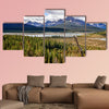 Scenic view of river and mountains near Icefield parkway Rocky wall art