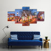 Downtown cityscape on Main Street in Annapolis, Maryland, USA Multi panel canvas wall art
