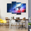 Deep Space Radio Telescope On A Milky Way Backdrop Multi Panel Canvas Wall Art